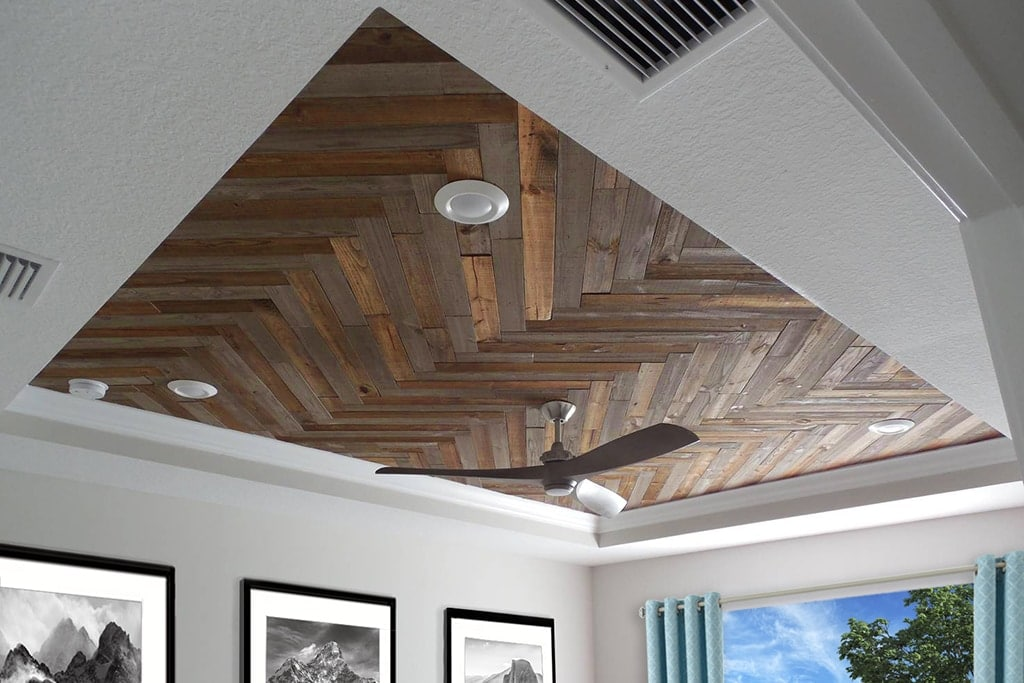 Custom Mixed Finish Ceiling