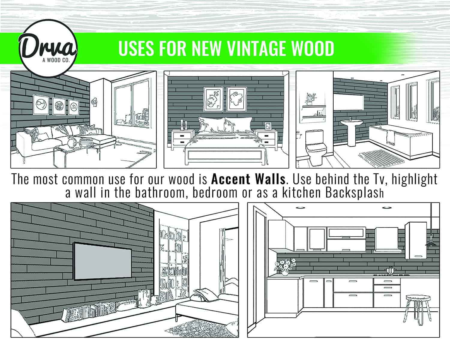 DRVA Wood applications and directions 3