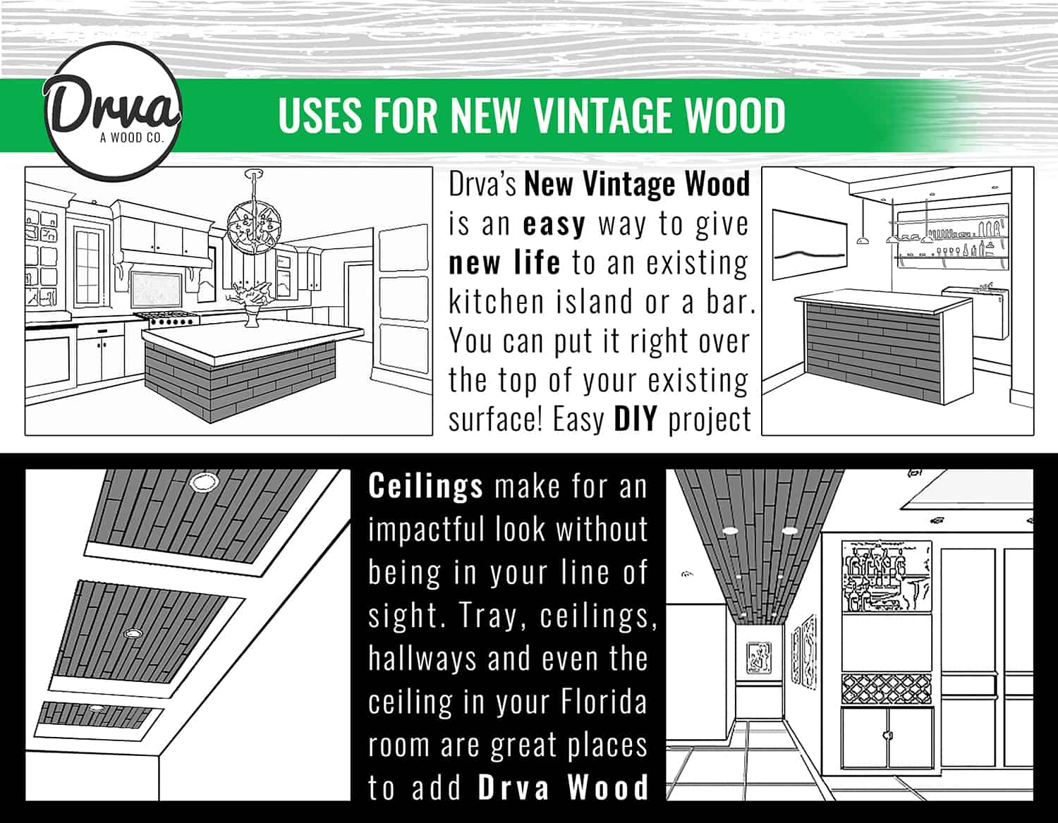 DRVA Wood applications and directions 2