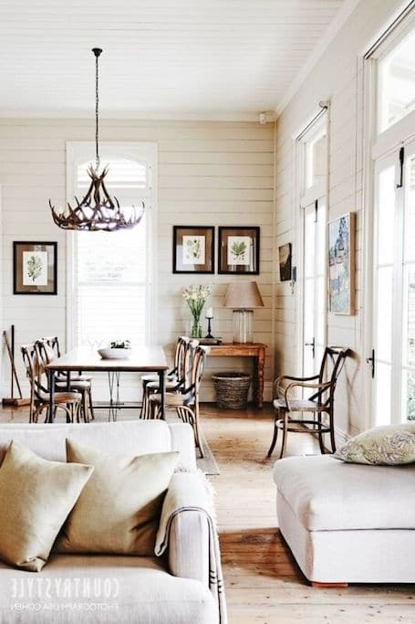Shiplap styled counrty home