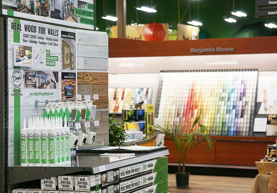 In Store Display of DRVA Wood
